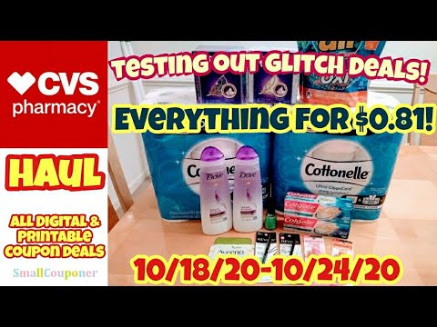 CVS Haul 10/18/20-10/24/20! Testing Out Glitch Deals! All Digital and Printable Coupon Deals!