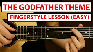 The Godfather Theme - EASY Fingerstyle Guitar Lesson (Tutorial) How to Play Fingerstyle