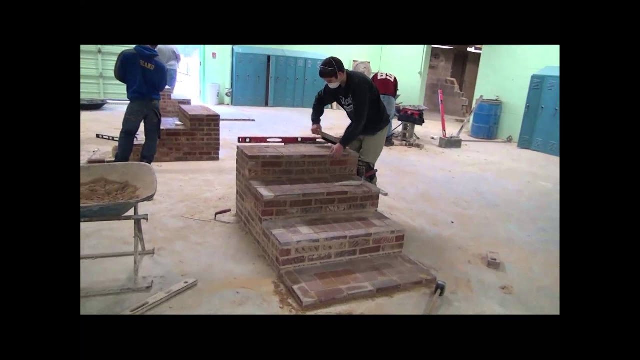 Design build brick steps - YouTube