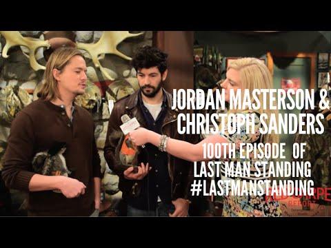 Jordan Masterson & Christoph Sanders at LastManStanding 100th Episode Celebration with Cast on Set