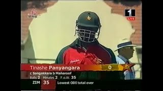 35 All Out! LOWEST SCORE EVER in International Cricket
