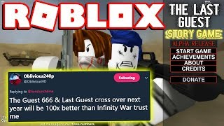THE LAST GUEST STORY GAME + GUEST 666 SEQUEL?! (Roblox)