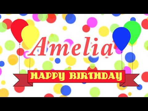Happy Birthday Amelia Song