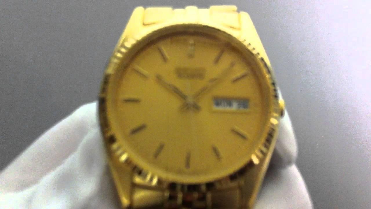 e32c7afc0 Men's Seiko Gold Tone Dress Watch SGF206 - YouTube
