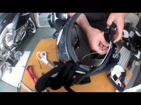 montage kit intercom bmw sur casque schuberth c3 youtube. Black Bedroom Furniture Sets. Home Design Ideas