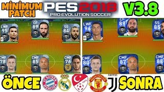 %100 YAMA YAPIMI !! Minimum Patch Pes 2018 Mobile | LİSANSLAR