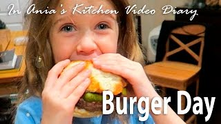 Ania's Video Diary - Burger Day - Daily Vlog