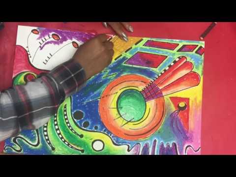 Kandinsky drawing time lapse