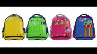 DIY Pixel Puzzle School Bags
