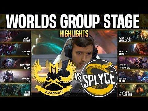 GAM Vs SPY Highlights Worlds 2019 Group Stage Day 1 - GIGABYTE MARINES Vs SPLYCE Highlights Worlds
