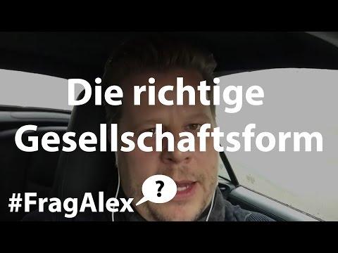 #FragAlex - Welche Gesellschaftsform steuerlich sinnvoll für Immobilien? (privat, GmbH, UG, GbR, AG)