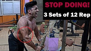 STOP DOING 3 Sets of 12 Rep | How many Sets and Reps to Build Muscle - Fat Lose Fast thumbnail
