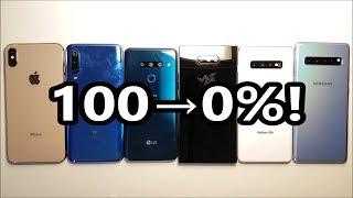 Battery Life Test! Galaxy S10 5G vs Galaxy S10+, LG G8, Xiaomi Mi 9, iPhone XS Max & Razer 2