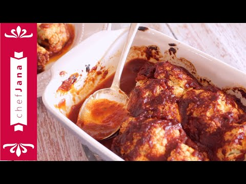 super-easy-cauliflower-with-homemade-plant-based-barbecue-sauce⎜sugar-free⎜oil-free