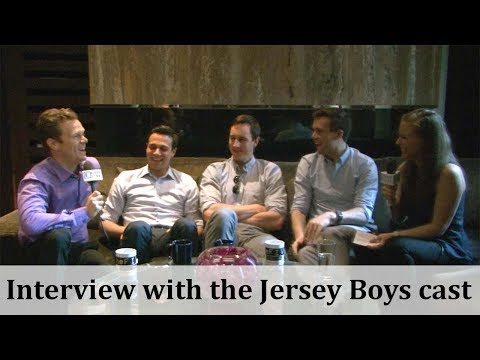 Interview with the cast of The Jersey Boys Musical