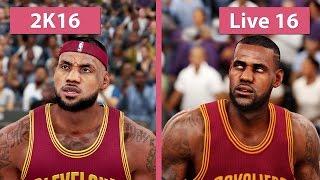 NBA 2K16 vs. NBA Live 16 Graphics Comparison [FullHD][60fps]