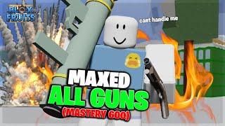 when noob maxed aĮl guns in blox fruit (MAXED DAMAGE)