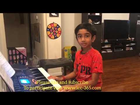 Playing Piano by little boy