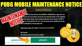 PUBG Mobile Official Maintenance Notice | Whats New ? Complete Details Update Now
