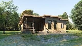видео Каркасный гараж 8,2 х 10,5 м - стоимость строительства и внешний вид