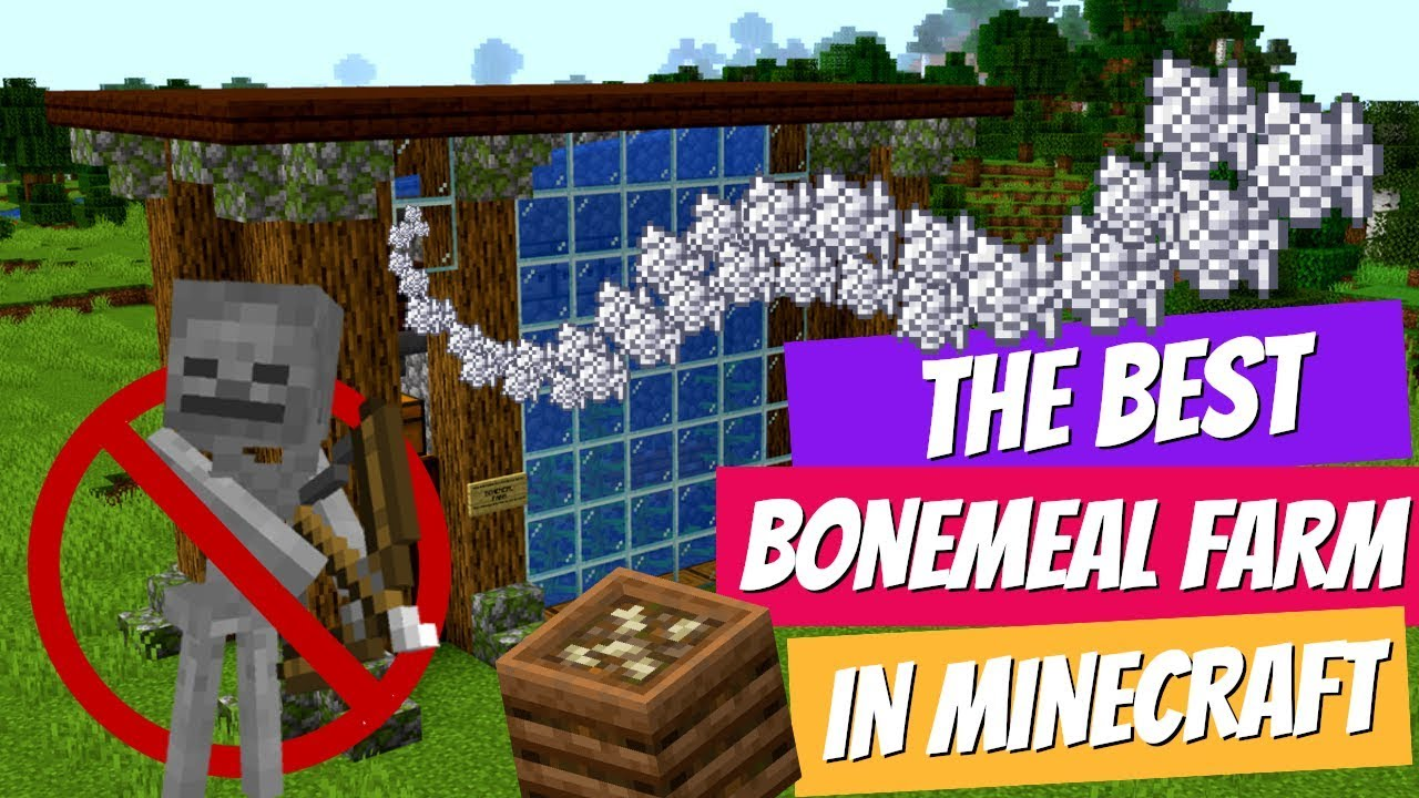 Minecraft 1.14 Bonemeal Farm: Totally Mob Free Bonemeal & Minecraft Survival Friendly with Avomance