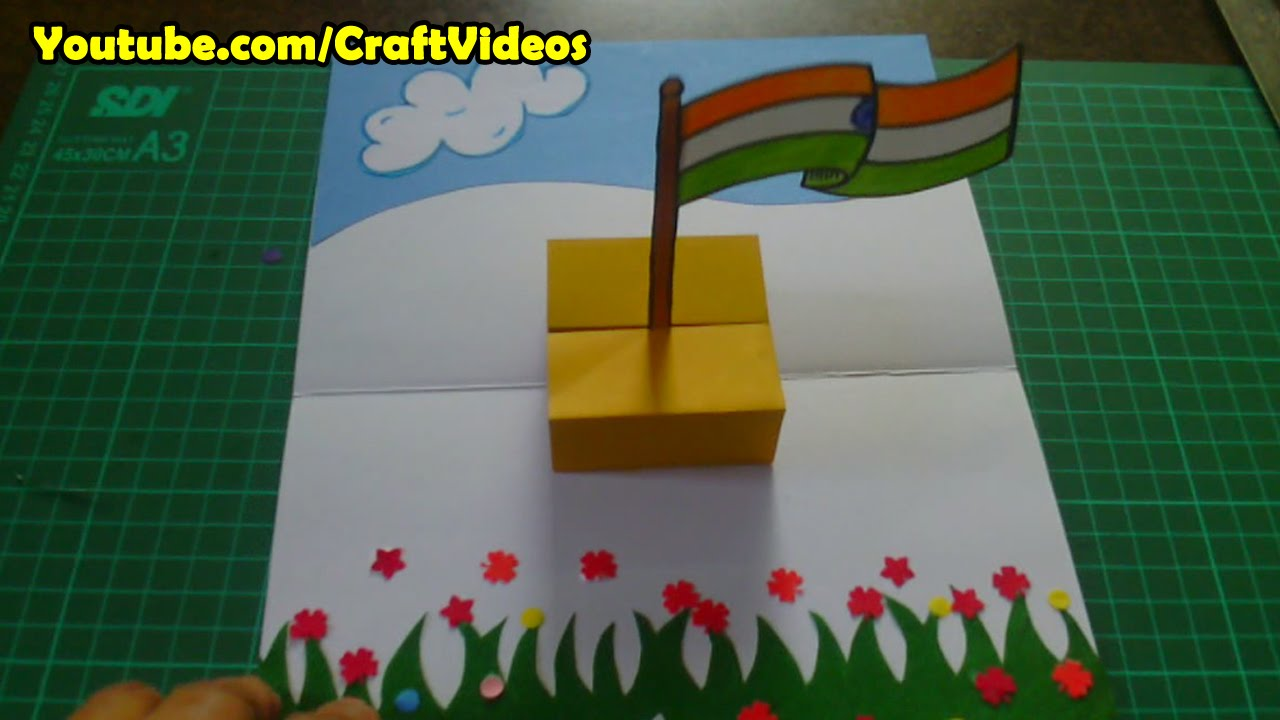 How to make national flag of india republic day cards designs card youtube also rh