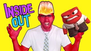 ANGER Inside Out Makeup Makeover! Brandon wanted to be IronMan for Halloween #2