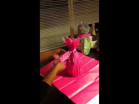Como decorar botellas para quinceneras youtube - Decoracion de botellas ...