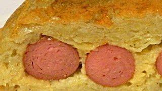 Картофельная Запеканка с Сосисками и Сыром в Мультиварке кулинарный видео рецепт