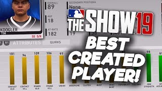 كيفية بناء أفضل خلق لاعب في الماس اسرة! MLB المعرض 19