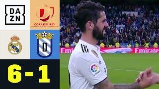 Isco und Asensio treffen bei Kantersieg doppelt: Real Madrid - UD Melilla 6:1 | DAZN | Copa del Rey