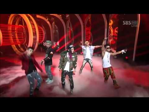 Big Bang  Intro A + Blue + Bad Boy + Fantastic Ba SBS Inkigayo 120311