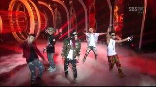 Video Big Bang - Intro (Alive) + Blue + Bad Boy + Fantastic Baby [SBS Inkigayo 120311] download MP3, 3GP, MP4, WEBM, AVI, FLV Juli 2018