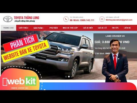 Thiết kế website bán xe Toyota đơn giản, tối ưu. TẶNG 100% khi cùng phát triển 3 năm | WEBKIT