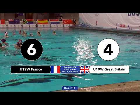 Game 200 (GBR vs FRA U19W) FRENCH - 5th CMAS Underwater Hockey Age Group Worlds - Sheffield, UK