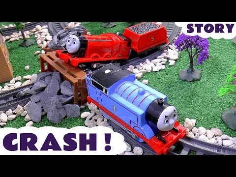Thomas and Friends Accident Crash with Batman and Joker Play Doh Diggin Rigs Rescue Story Toys