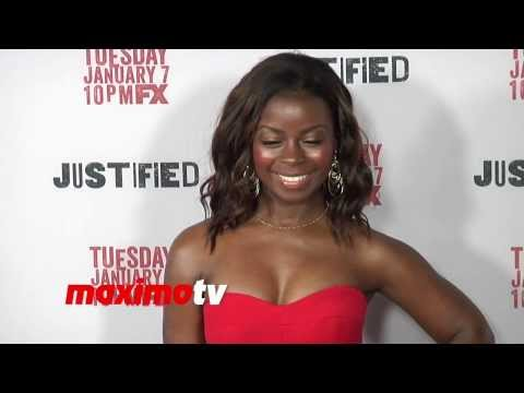 Erica Tazel FX's JUSTIFIED Season 5 Premiere Screening Arrivals  Deputy U.S. Marshal Rachel Brooks