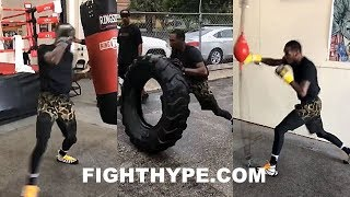 ROBERT EASTER BEAST MODE TRAINING FOR MIKEY GARCIA; RABID BUNNY GRINDING HARD RAIN OR SHINE