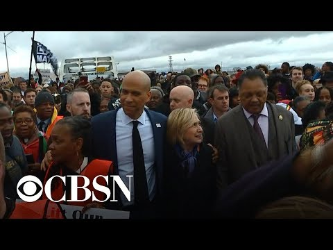 Bernie Sanders and Cory Booker attend service on Selma anniversary