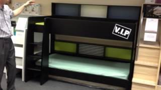 High Tek Bunk Beds - Rainbow Wood