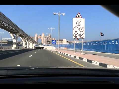 Driving at Palm Jumeirah.