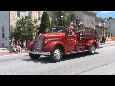 Honey Brook,PA Fire Company 125th Anniversary Parade 8/5/17 pt 1 of 2