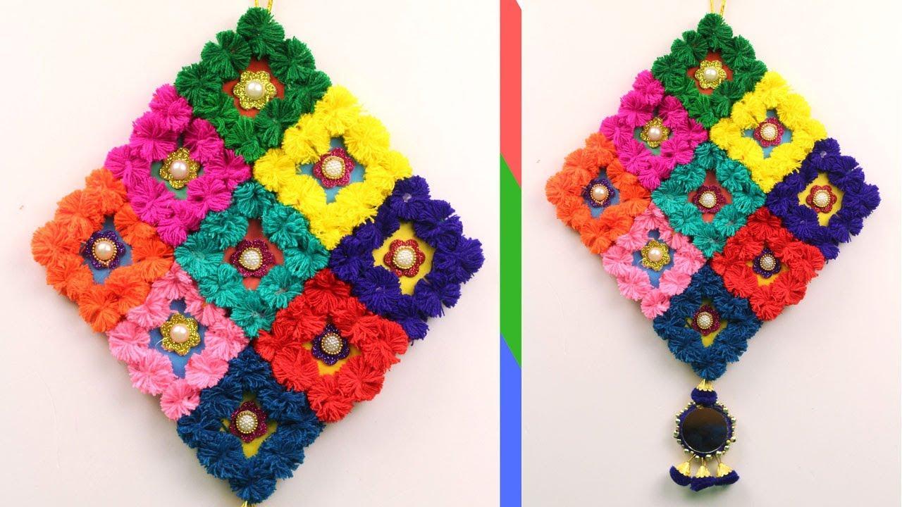 Diy Wool Craft Ideas Waste Wool Craft Idea Home Decor Craft From