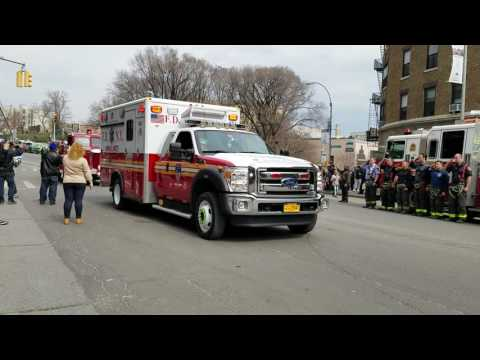 Funeral Procession For FDNY EMT Yadi Arroyo Makes Their Way To Woodlawn Cemetery In The Bronx