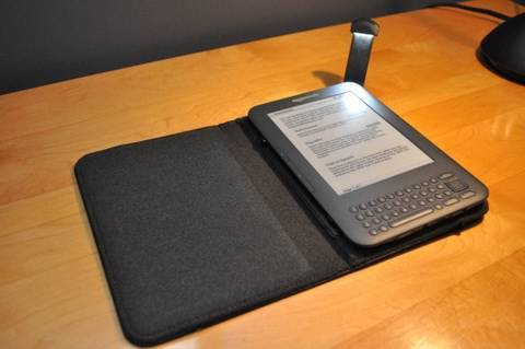 Amazon Kindle 3 Lighted Leather Cover: Unboxing and Demo