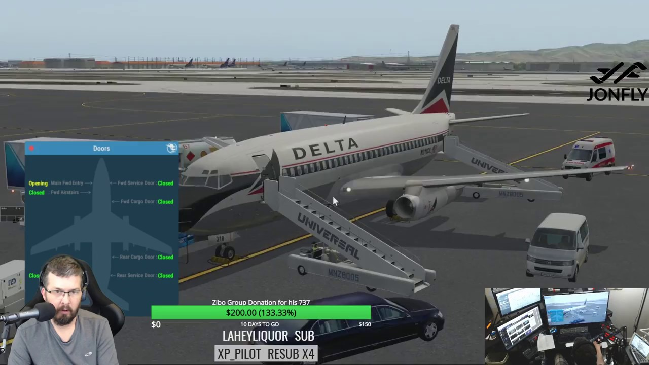 FlyJSim 732 Twinjet and JAR ground handling