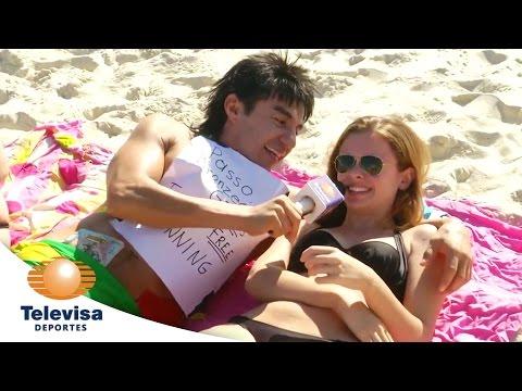 El Vitor Aplica Bronceador A Las Chicas en Brasil I Televisa Deportes