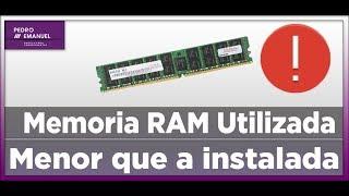 Memória RAM utilizável menor do que a instalada Como Resolver !