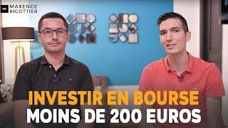 Comment INVESTIR en BOURSE avec moins de 200 EUROS ?