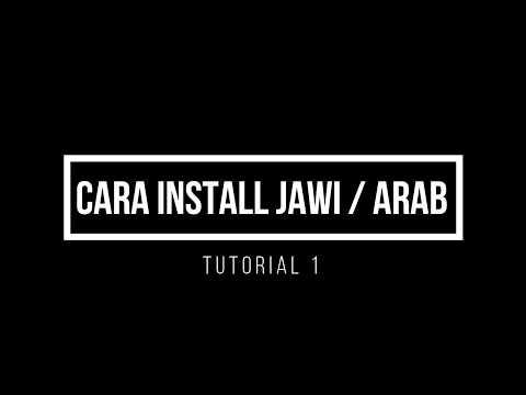 Kelas 1 - Cara Install Keyboard Arab / Jawi